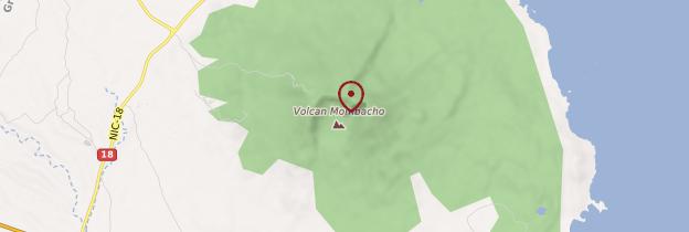 Carte Volcan Mombacho - Nicaragua