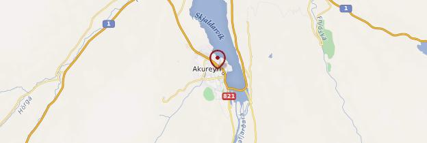 Carte Akureyri - Islande