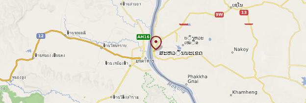 Carte Savannakhet - Laos