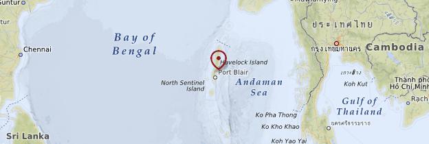 Carte Andaman - Inde