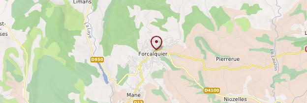 Carte Forcalquier - Provence