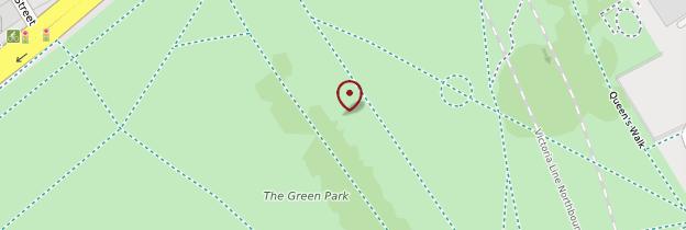 Carte Green Park - Londres