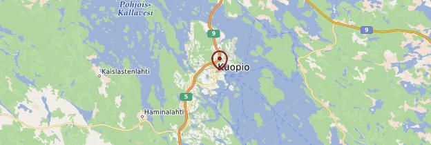 Carte Kuopio - Finlande