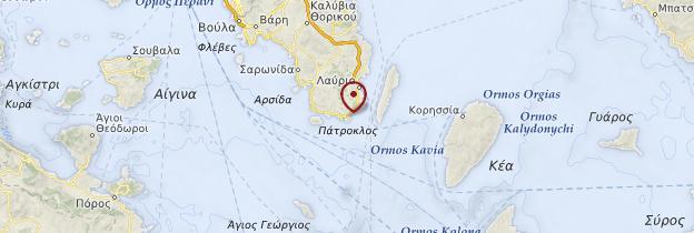Carte Cap Sounion - Grèce