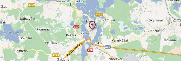 Carte Trakai - Lituanie