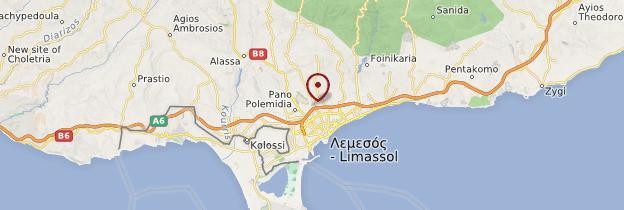 Carte Limassol - Chypre