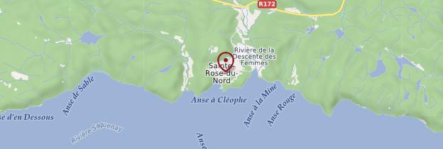 Carte Sainte-Rose-du-Nord - Québec
