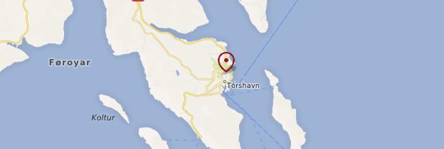 Carte Tórshavn - Îles Féroé