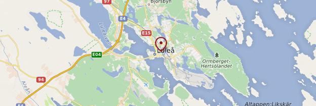 Carte Luleå - Suède