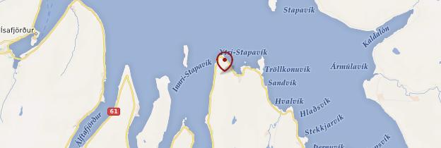 Carte Hamar - Islande
