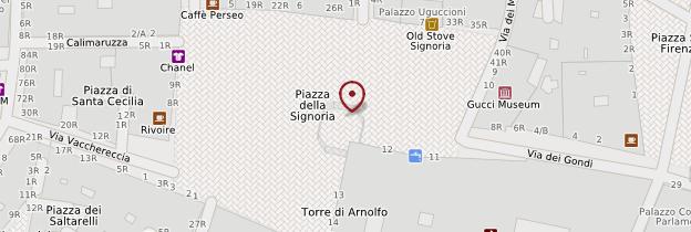 Carte Piazza della Signoria - Florence
