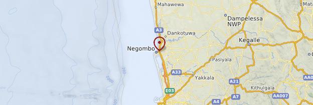 Carte Negombo - Sri Lanka