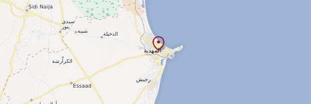 Carte Mahdia - Tunisie