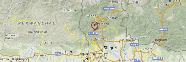 Carte Darjeeling - Inde