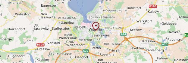 Carte Wismar - Allemagne