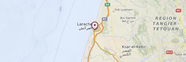 Carte Larache - Maroc