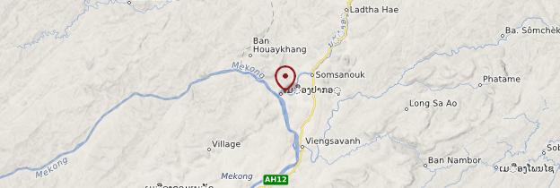 Carte Grottes de Pak Ou - Laos