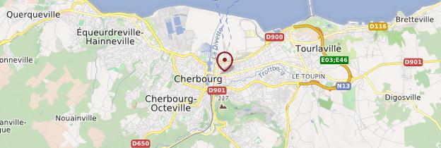 Carte Cherbourg-Octeville - Normandie