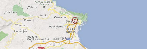 Carte Bejaia - Algérie