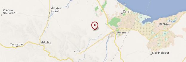 Carte Mareth - Tunisie
