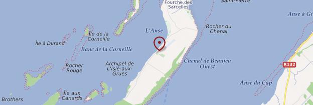 Carte Isle-aux-Grues - Québec