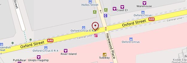 Carte Oxford Street - Londres