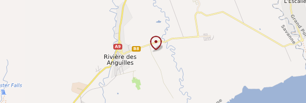 Carte La Vanille (Réserve des Mascareignes) - Île Maurice, Rodrigues