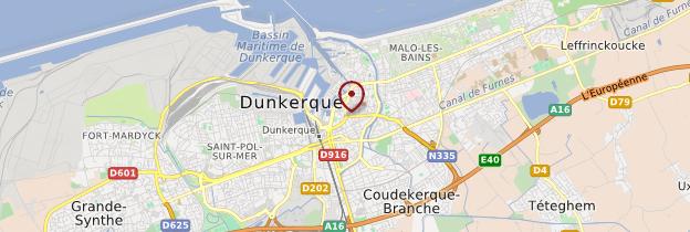 Carte Dunkerque - Nord-Pas-de-Calais
