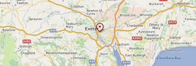 Carte Exeter - Angleterre