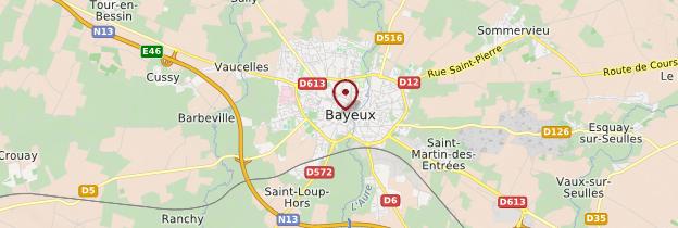 Carte Bayeux - Normandie
