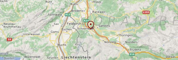 Carte Frastanz - Autriche