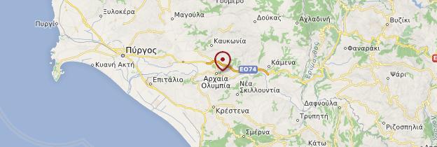 Carte Olympie - Grèce