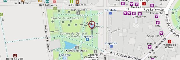 Carte Capitole - Toulouse