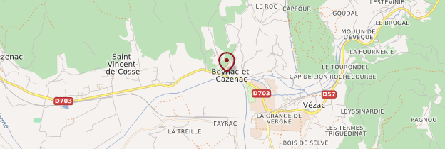 Carte Beynac-et-Cazenac - Périgord - Dordogne