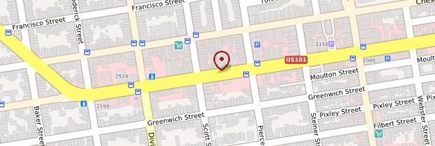 Carte Lombard Street - San Francisco