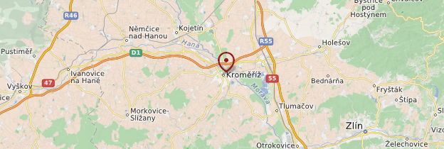 Carte Kroměříž - République tchèque