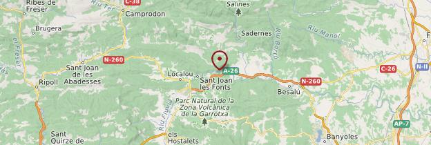 Carte Castellfolit de la Roca - Catalogne