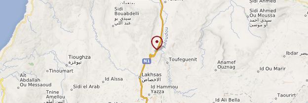 Carte Igherm - Maroc