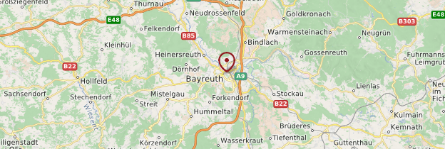 Carte Bayreuth - Allemagne