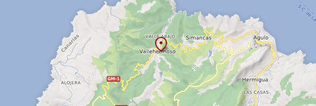 Carte Vallehermoso - Canaries