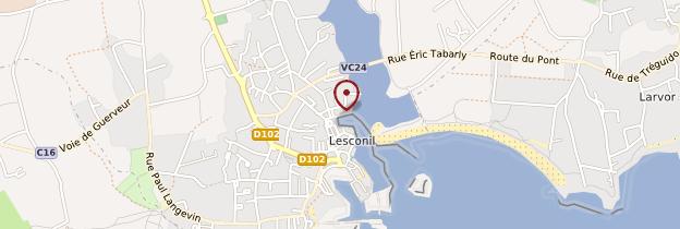 Carte Lesconil (Leskon) - Bretagne