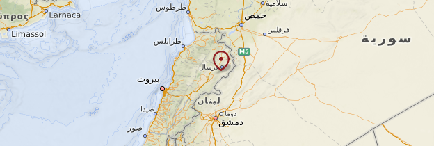 Carte Vallée de la Beqaa - Liban