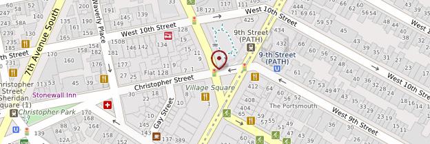 Carte Greenwich Village et West Village - New York