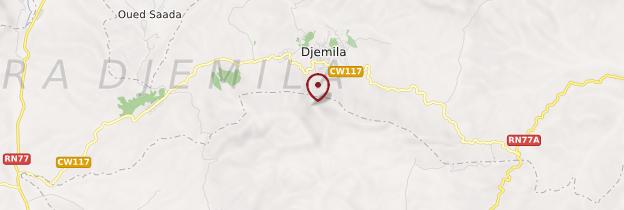 Carte Djemila - Algérie