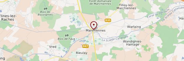 Carte Marchiennes - Nord-Pas-de-Calais
