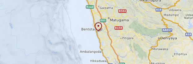 Carte Bentota - Sri Lanka