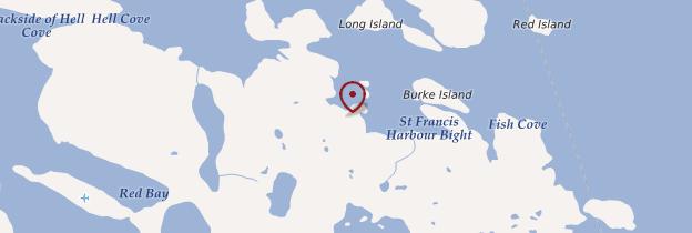 Carte King's Cove - Canada