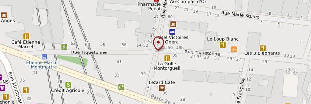 Carte Rue Montorgueil - Paris