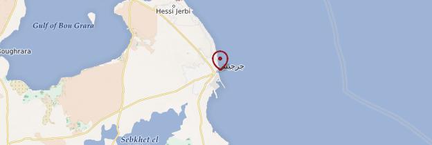 Carte Zarzis - Tunisie