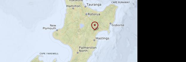 Carte Hawkes Bay - Nouvelle-Zélande